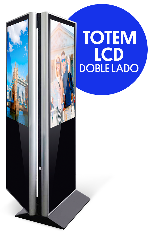 totem doble side ledvision