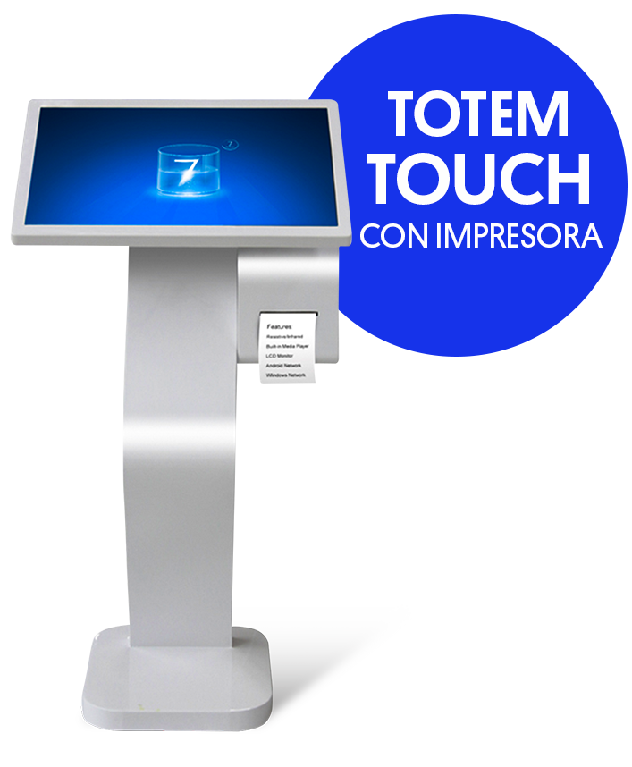 totem touch printer ledvision